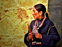 Glennis O'Neill - Tibetan Woman With Incense